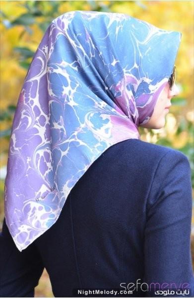 مدل های جدید دستمال رنگی زنانه