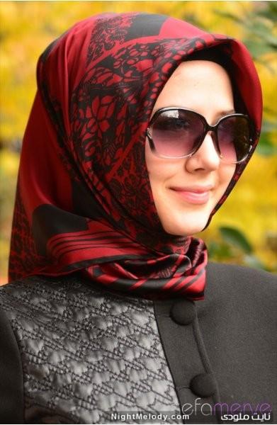 مدل دستمال زنانه طرح ساده