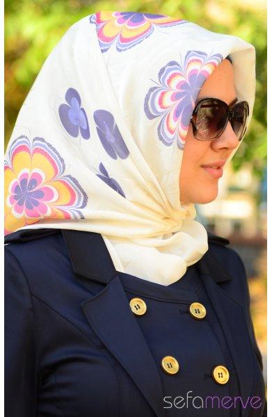 مدل دستمال گلدار زنانه