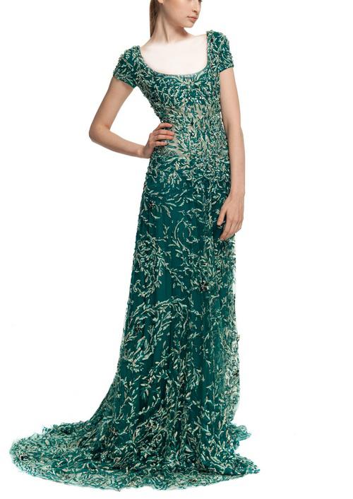 لباس شب سبز سری دوم