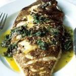 طرز تهیه ماهي قزل آلا با سس مرزه