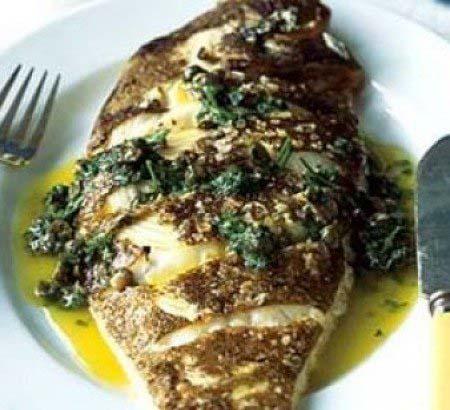 طرز تهیه ماهی قزل آلا با سس مرزه