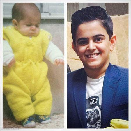 عکس تولد 19 سالگی امیر محمد در کنار عمو پورنگ
