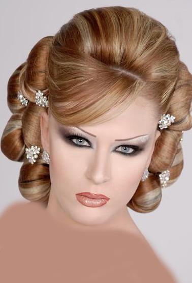 جدیدترین سری مدل مو و ارایش صورت عروس