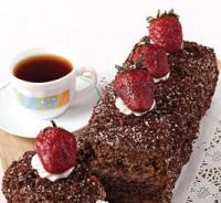 طرز تهیه کیک خامه ای شکلاتی