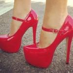 کفش های جشن نامزدی قرمز و صورتی