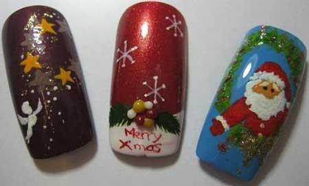 عکسهای جالب از طراحی ناخن کریسمس