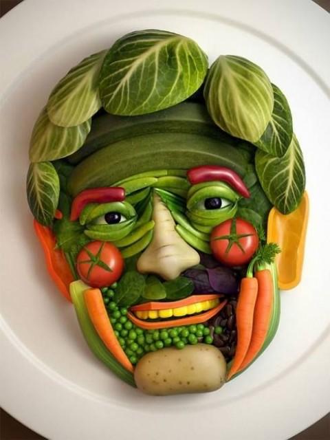 مدل های جالب و ساده تزیین سبزیجات2015