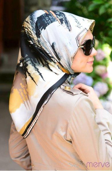 مدل مانتو و دستمال دخترانه 2015