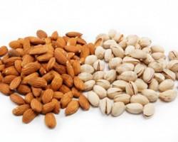خواص 2 رفیق سبدهای آجیل: بادام و پسته