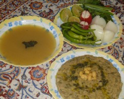 طرز تهیه گوشت و لوبیا اصفهانی