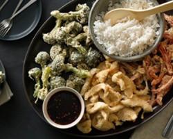 طرز تهیه بشقاب مرغ و سبزیجات
