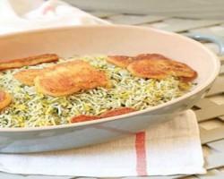 طرز تهیه سبزی پلوی شب عید 95