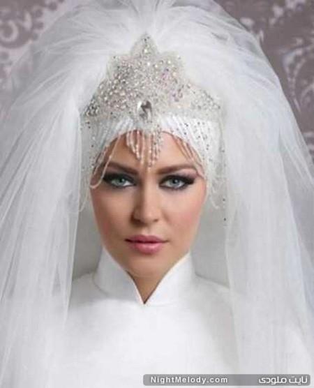 مدل تاج و تور عروس های محجبه 2015