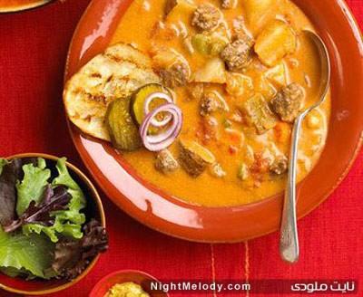 طرز تهیه سوپ چيزبرگر آمريكایی