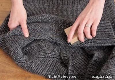 روشی ساده جهت از بین بردن پرزهای لباس بافت