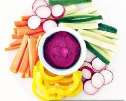 چغندر تفت داده با سبزیجات رژیمی