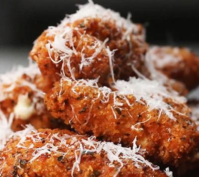 طرز تهیه لقمه های پنیری مرغ سوخاری