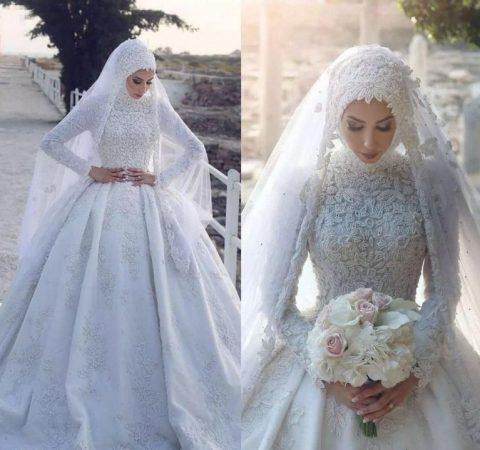 مدل جدید لباس عروس اسلامی