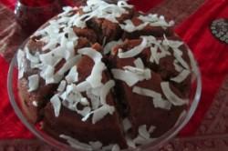 کیک شکلاتی نارگیلی
