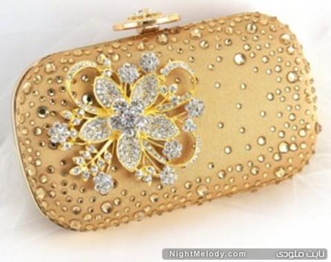 جدیدترین مدل های کیف دستی زنانه(طلایی)