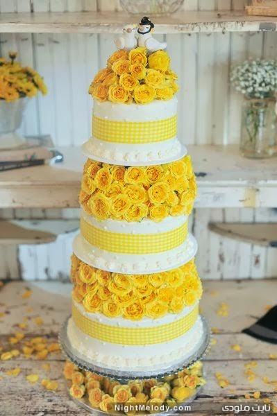 جدیدترین مدل کیک های عروسی 2014(زرد)