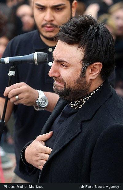 عکس بازیگران ایرانی در مراسم تشیع مرتضی پاشایی