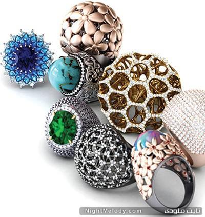 مدلهای متفاوت انگشترهای جواهر