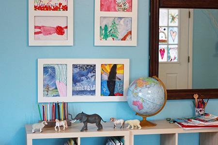 با نقاشی و کاردستی های فرزندمان چه کنیم؟